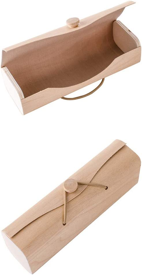 TOPBATHY Hard Shell Glasses Case Bamboo Vintage Eyeglasses Sunglasses Case Cylinder Bamboo Storage Organizer Spectacle Container