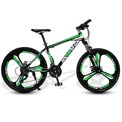 QIMENG Mountain Bike26 inch Freni A Disco Idraulici Forcella Anteriore Ammortizzata,Cruiser Bicycle Beach Ride Travel Sport,Cambio Shimano A 21/24/27/30 velocità,Unisex,K,21 Speed
