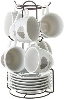 Tazas de café de porcelana grises románticas para cocina