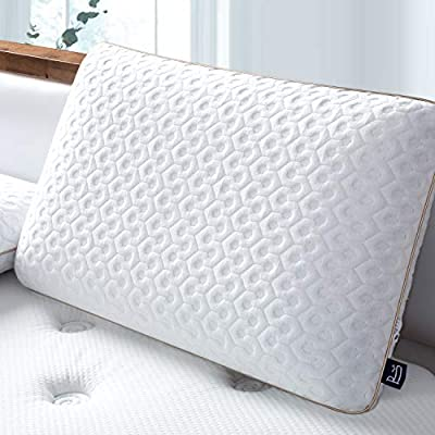 BedStory Memory Foam Pillow, Cervical Pillow Orthopedic Square Pillow Support for Back, Stomach, Side Sleepers, Bed Pillows for Sleeping