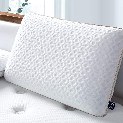 BedStory Memory Foam Pillow, Cooling Gel Pillows for Sleeping,