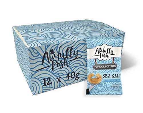 Awfully Posh   Sea Salt Pork Crackling   Keto Snacks   12 X...