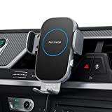 Hinyx Qi Chargeur de voiture sans fil,15W Chargeur Induction Voiture Rapide,Support Téléphone de...