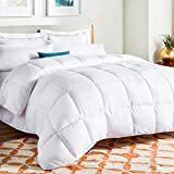 LINENSPA LS70FFMICO  All-Season White Down Alternative Quilted Comforter - Corner Duvet Tabs - Hypoallergenic - Plush Microfiber Fill - Machine Washable - Duvet Insert or Stand-Alone Comforter - Full