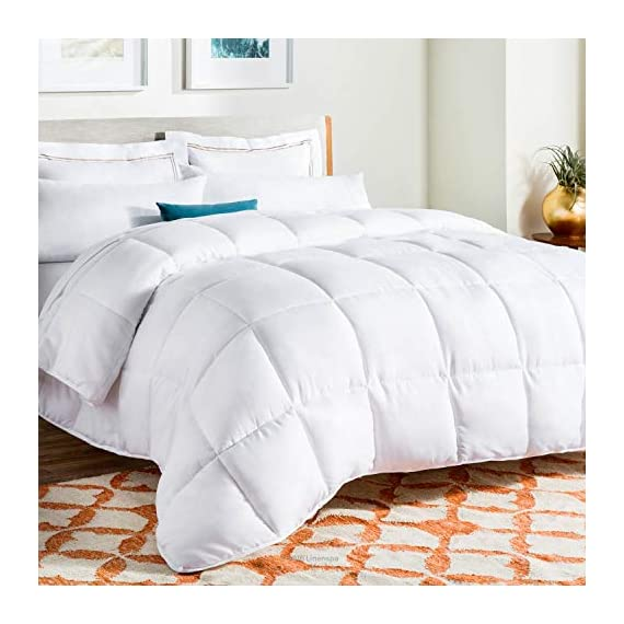 Linenspa-All-Season-Reversible-Down-Alternative-Quilted-California-King-Comforter-Hypoallergenic-Plush-Microfiber-Fill-Machine-Washable-Duvet-Insert-or-Stand-Alone-Comforter