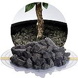 Schicker Mineral Basaltsplitt anthrazit 25 kg in den Größen 8-16 mm, 16-22 mm, 16-32 mm, 32-56 mm, ideal zur Gartengestaltung, schwarzer Naturstein Splitt (Basalt Splitt, 16-22 mm)