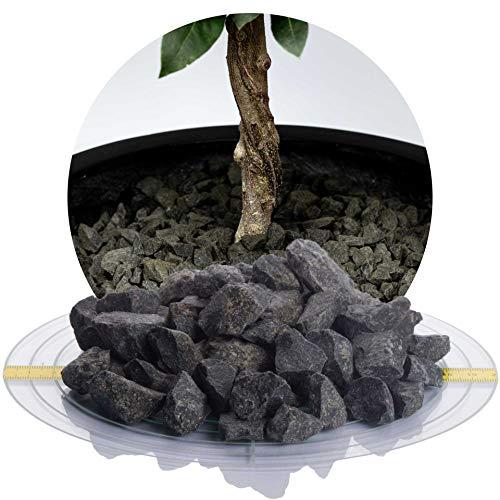 Schicker Mineral Basaltsplitt anthrazit 5 kg in den Größen 16-22 mm, 16-32 mm, 32-56 mm, ideal zur Gartengestaltung, schwarzer Naturstein Splitt (16-22 mm)