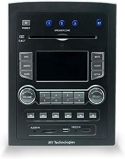 iRV Technology iRV66 AM/FM/CD/DVD/MP3/MP4/USB/SD/HDMI/Digital5.1/Surround Sound/Bluetooth 3 Zones wall mount RV Radio Ster...