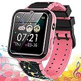 Reloj Inteligente para niña, Smartwatch teléfono para Niños con 7 Juegos SOS Música Despertador Cámara Alta definición Calculadora Grabadora Linterna, Reloj para niños niña 3-14 Años Regalo