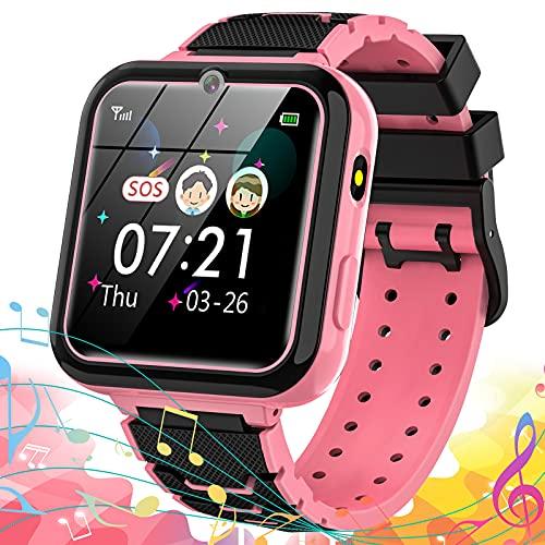 Vannico Reloj Inteligente para Niño, Smartwatch Niñas 16 Juegos MP3 Música Cámara Vídeo Podómetro Calorías Linterna Despertador Calculadora 3-14 Años Estudiantes Regalo