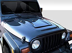 Extreme Dimensions Duraflex Replacement for 1997-2006 Jeep Wrangler Heat Reduction Hood (Must be Used with Highline fenders) - 1 Piece