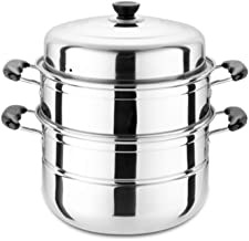 PPSM Large Steamer, Stainless Steel, Two-layer, Three-layer, Thick Steamer, Steaming Grid, Soup Pot, Double-layer, Commerc...