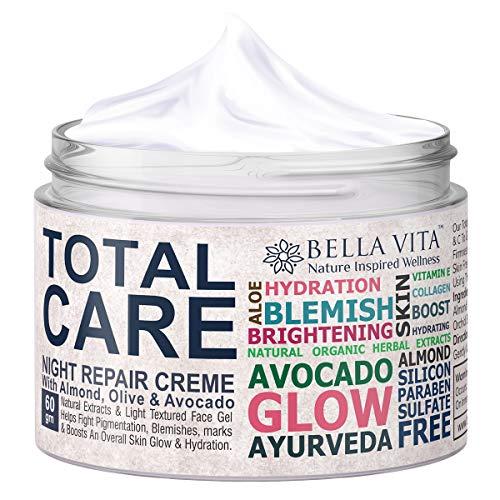 Bella Vita Organic Total Care Face Cream For Skin Fairness, Brightening, Dark Spots Removal, Pigmentation, Blemish & All Concerns For Dry, Normal & Oily Skin