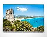 Atemberaubendes Leinwand-Bild Strand Sardinien Italien -