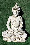 AnaParra Estatua Buda delAmor Decorativa para Jardín o Exterior Hecho de hormigón-Piedra Artificial ...