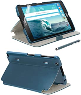 Verizon Folio Case, Screen protector and Stylus Pen Bundle for LG G Pad X8.3 - Blue
