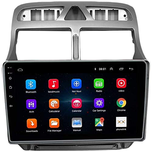 Peugeot 307 Android 10 Coche Estéreo Multimedia Player Mag.al Navegación GPS IPS 2.5D Pantalla táctil Pantalla táctil Soporte de navegación por satélite SWC Control de teléfono móvil Video de WiFi