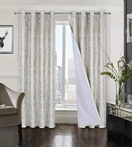 Always4u - Cortina opaca de terciopelo dorado, cortina de salón con ojales, aislamiento térmico, acústico, cocina, dormitorio, ventana, niña, bebé, juego de 2 unidades de 140 x 175 cm