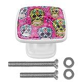 [4 piezas] pomos de aparador, coloridos pomos decorativos para cajón,...