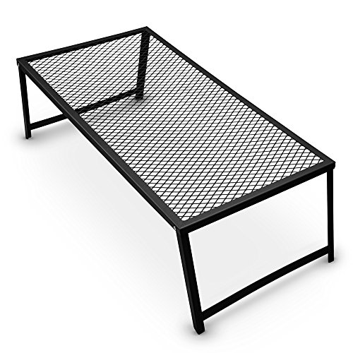 """Grizzly Peak Heavy Duty Steel Mesh Over Fire Camping Grill Gate (Family Size - 34"""" x 16"""")"""
