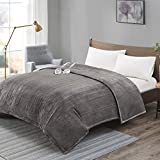 Degrees Of Comfort [Advanced] Dual Control Electric Blanket King Size W/ Auto Shut Off | Heated Throw for Bed & Living Room | Machine Washable | UL Certified and EMF Radiation Safe - Grey