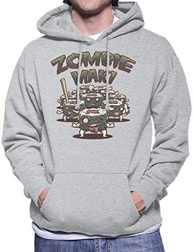 Stuffv Zombie Maki with Text Men's Hooded Sweatshirt,T7,Medium