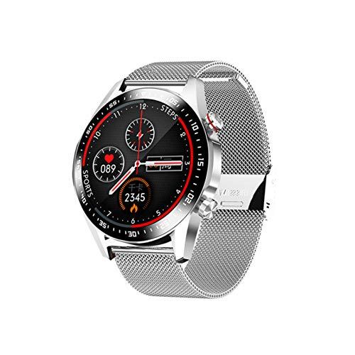 ZGNB E1-2 Smart Watch Men's Bluetooth Llamada De Llamadas De La Pantalla Táctil Completa Monitor De Ritmo Cardíaco Impermeable Ejercicio Fitness Tracker Smartwatch para Android iOS,D