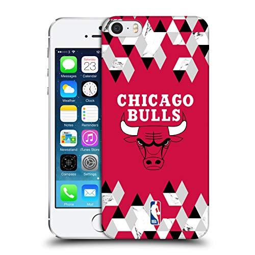 Head Case Designs Ufficiale NBA Marmoreo Geometrico 2018/19 Chicago Bulls Cover Dura per Parte Posteriore Compatibile con Apple iPhone 5 / iPhone 5s / iPhone SE 2016