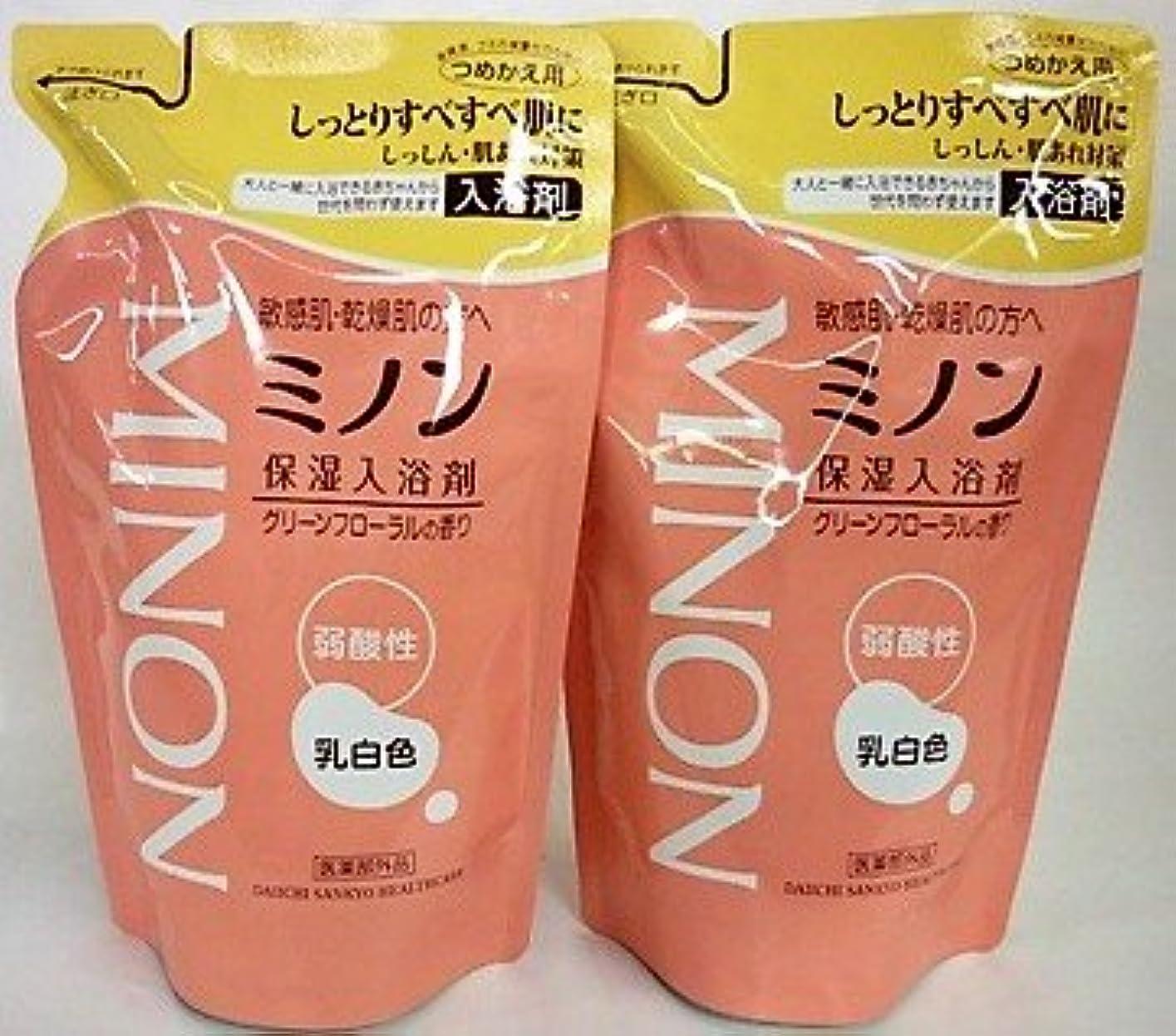 有彩色の論文ユーモラス[2個セット]ミノン 薬用保湿入浴剤 詰替 400mL入り×2個