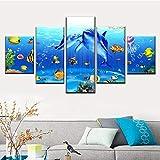 sanzx 5 Stücke Von Unterwasserwelt Malerei Druck Delphin