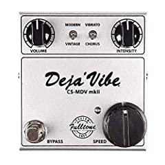 30% smaller enclosure than older MDVs, still with top-mounted jacks for tight spaces. Now has MUCH slower and MUCH faster available speeds (than all older Fulltone vibes) Has a linear ramp up of the Speed knob 100% correct Vintage Univibe analog circ...