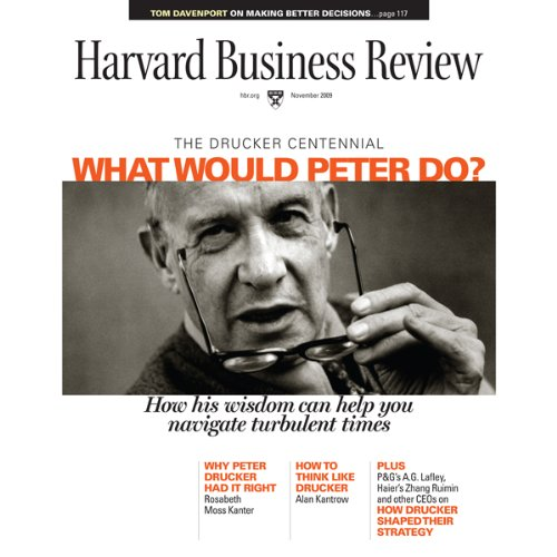 Harvard Business Review, November 2009 copertina