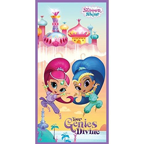 Desconocido Kids Toalla Shimmer & Shine, Poliéster, Beige, 30.0x35.0x5.0 cm