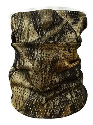 QMFIVE Sciarpa da camuffamento tattica, Uomo e Donna Fascia Militare multifunzionale a forma di capo Head-Wrap Face Mesh Sfoglia per combattimento, caccia, arrampicata, escursionismo, ciclismo (Leaf)
