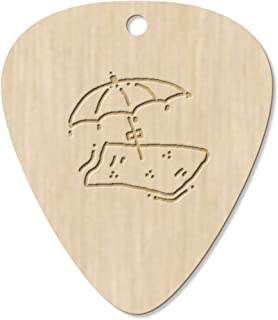 7 x 'Beach Towel & Umbrella' Guitar Picks / Pendants (GP00021045)