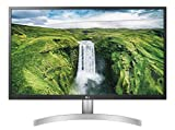 "LG 27UL500 Monitor 27"" UltraHD 4K LED IPS HDR 10, 3840x2160, 1 Miliardo di Colori, AMD FreeSync 60Hz, HDMI 2.0 (HDCP 2.2), Display Port 1.4, Uscita Audio, Flicker Safe, Bianco"