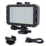 Suptig Underwater Lightsダイブライト84 LEDハイパワーディマブル防水LEDビデオライト防水164フィート(50m)Gopro Canon用Nikon Pentax PanasonicソニーSamsung SLR