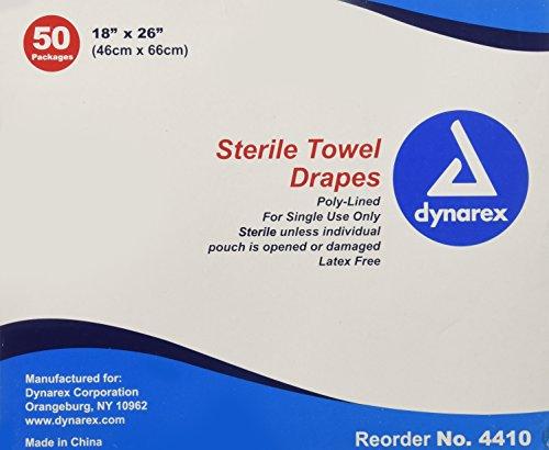 Dynarex Disposable Towel Drape Sterile - 18 X 26 inch -Sku -