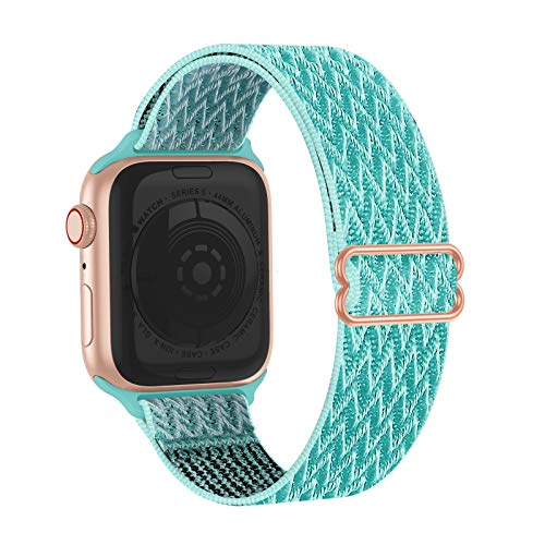 Solo Bands Compatible with Apple Watch, Soft Stretchy Loop Sport Elastics Strap Replacement for iWatch Series SE 6/5/4/3/2/1