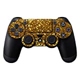 MightySkins Skin Compatible with Sony Playstation DualShock PS4 Controller Case wrap Cover Sticker Skins Gold Glitter