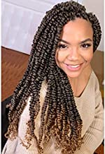 6Pcs Passion Twist Hair 18 Inch Braiding Water Wave Crochet Hair for Passion Twist Bohemian Curly Hair for Crochet Braids Twist (M1B-27)