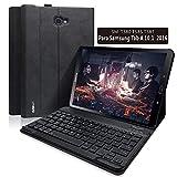 BAIBAO Teclado Tablet 10.1 para Samsung Galaxy Pro 10.1 Pulgadas SM-T580 / T585 / T587, Teclado Español Inalámbrico Bluetooth Desmontable Magnéticamente con Cubierta Delgada (Negro)