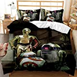 B-B-8 and R.D.2 Ro-bot Starwars Bedding Sets 3D Printed for Kids Boys Girls Comforter Cover, Bedroom Sets, Full Size (Full / Twin / King / Queen).A2372