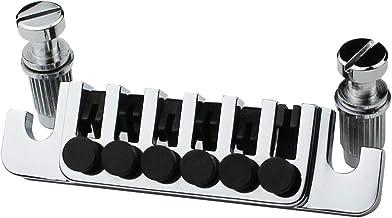 Guyker Guitar Bridge Tailpiece - Tune-O-Matic Bridges Replacement for EPI LP SG 6 String Electric Guitar (Chrome)