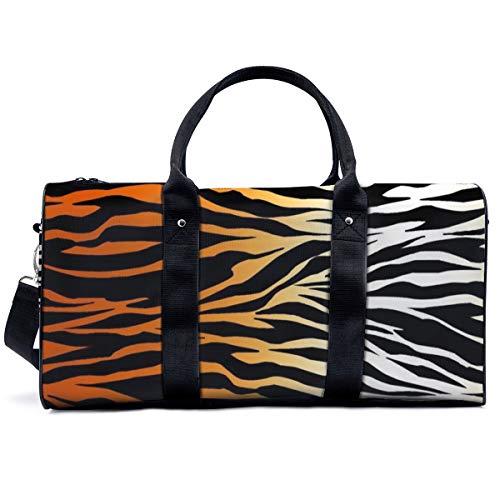 Bolsa de deporte para gimnasio, piel de tigre, bolsa de yoga, bolsa de hombro, bolsa de viaje, bolsa de viaje para hombres y mujeres