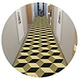 Alfombra premium extra larga para pasillo alfombra lavable, entrada estrecha con respaldo antideslizante para salón, comedor, oficina, entrada, cocina, multicolor, 0,9 x 2 m
