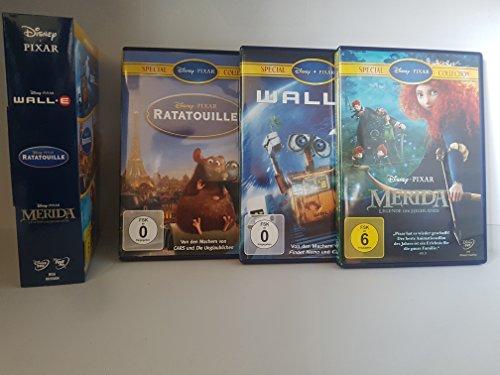 Disney 3er-DVD-Box WALL-E + Ratatouille + Merida