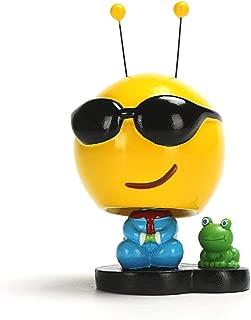 DoinMaster Emoji Doll Toy - Creative Cute Expression Shaking Head Dolls/Car Accessories/Dashboard Bobblehead for Car/Interior Decoration and Kid's Gift (B)