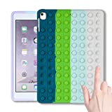 Jowhep for iPad 8/7 (10.2' 2020/2019 Model,8th/7th Generation),Case Cover Cases Silicone Cartoon Fun Funny Kawaii Cute Fidget for Girls Boys Friends Teen-Bule Green (for iPad 8/7 10.2 inch)