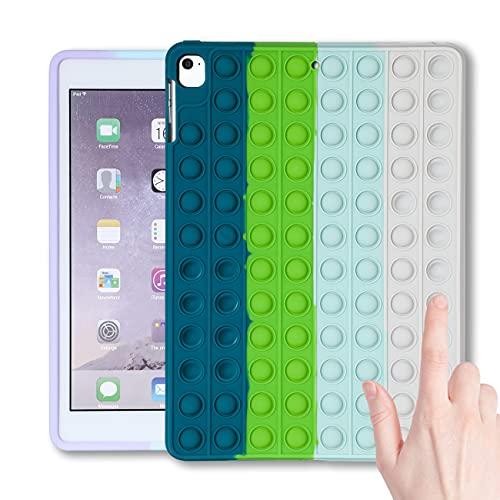 "Jowhep for iPad 8/7 (10.2"" 2020/2019 Model,8th/7th Generation),Case Cover Cases Silicone Cartoon Fun Funny Kawaii Cute Fidget for Girls Boys Friends Teen-Bule Green (for iPad 8/7 10.2 inch)"